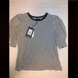Who What Where stripe shirt